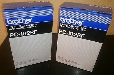 Brother PC-102RF  2 Packungen a 2Rollen f. Fax 1150P, 1200P, 1700P ## mit Rg. ##