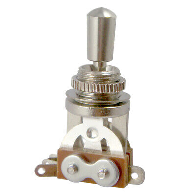 3 Way Toggle Switch +Tip for Les Paul Electric Guitar Pickup Selector Silver