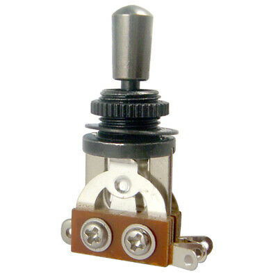 3 Way Toggle Switch + Tip for Les Paul Electric Guitar Pickup Selector Black