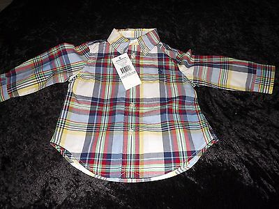 Ralph Lauren Checked Shirt Age 12M Brand New With Tags
