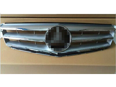 08-14 Mercedes Benz C-Class w204 Grille Grill Silver Radiator AMG Style