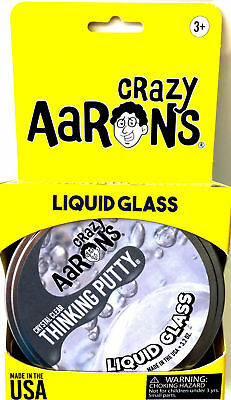Liquid Glass Crystal Clear Crazy Aaron's Thinking Putty Large 4 inch tin 3.2oz