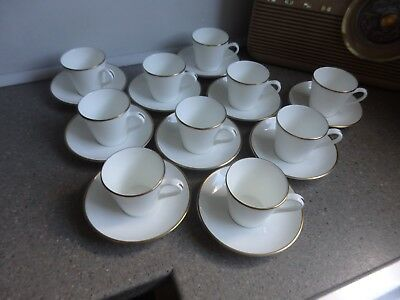 Royal Tuscan Sovereign Coffee Cup & Saucer X 10