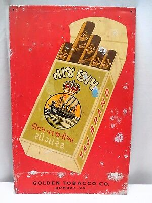 Vintage Virgina Cigarettes Tin Advertising Taj Brand Sign Tobacciana Collectib#2