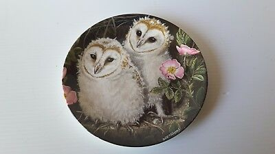 Crown Staffordshire BARN  Owl Chicks collector Plate DICK TWINNEY  WEDGWOOD