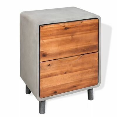 Bedroom Bedside Cabinet Table Unit Storage with 3 Drawers Nightstand Living Room
