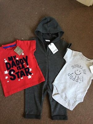 Next  Brand New With Tags Baby Boys Clothes Bundle Age 3-6 Months
