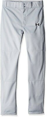 (Youth Small, Baseball Gray (075)) - Under Armour Boys' Clean Up Baseball Pants