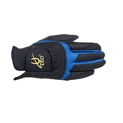 (Black/Blue(BL/B), Large) - TKO - Synthetic Leather Race Gloves with silicone