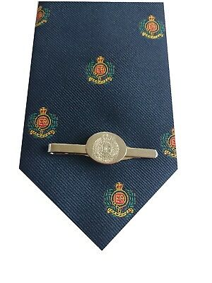 Royal Corps of Engineers Tie & Engraved Tie Clip Set p299