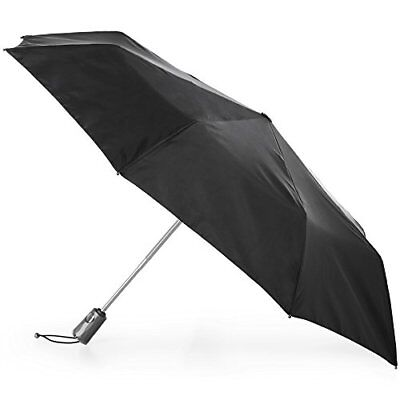 totes Titan Auto Open Close Umbrella with NeverWet   Black