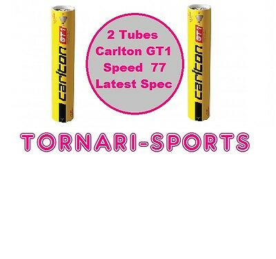 2 x Tubes CARLTON GT GT1 FEATHER SHUTTLECOCKS Speed 77 - 2 x Tube of 12