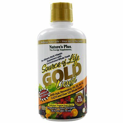Gold Liquid, Delicious Tropical Fruit Flavor (887 ml) - Nature's Plus
