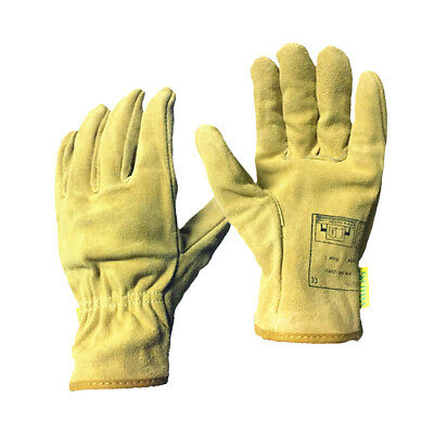 1 Pair Long Welding Protective Gloves Hands Cover Flame Resistant Yellow