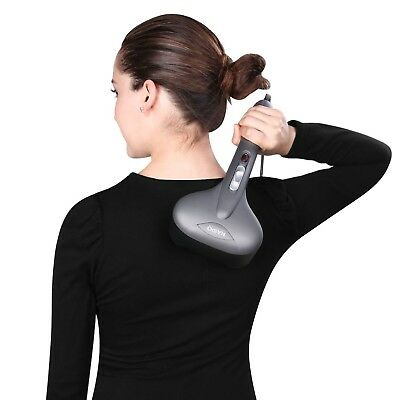 Professional Handheld Percussion Massager with Heat Dual Head Deep Tissue