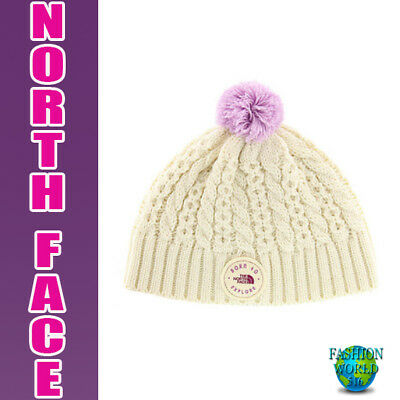 7b7253a40 NEW The North Face Youth Baby Minna Pom Pom Beanie XS 6-24 Months ...