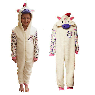 Unicorn Kids All In One Dress Up Sleep Jump Suit Pyjamas Childrens Nightwear