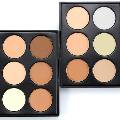 6 Colors Compact Face Powder Contour Studio Fix Bronzer Shading Mineral Pressed