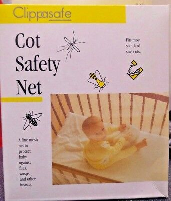 Clippasafe - Cot Safety Net (Insect) - Brand New Retail Packaging - CHEAP PRICE!