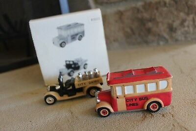 """Pre-Enjoyed Dept 56 Christmas in the City  """"Transport"""" set of two"""