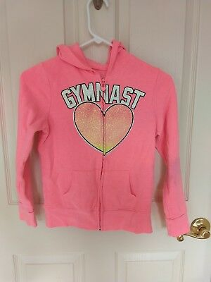 Girl's Justice Gymnast Shirt and Zip up Hoodie Size 10