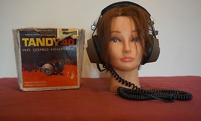 Realistic Tandy 40 Vintage Headphones Tested Working