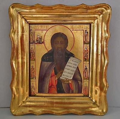Authentic Antique 19th century Superb Russian Icon Very Rare Nevyansk School