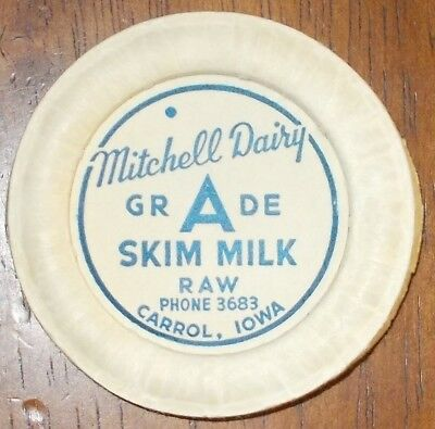 IA Milk Bottle Cap MITCHELL DAIRY Carrol Iowa #1