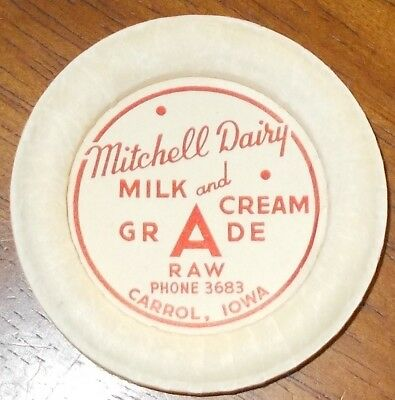 IA Milk Bottle Cap MITCHELL DAIRY Carrol Iowa #2