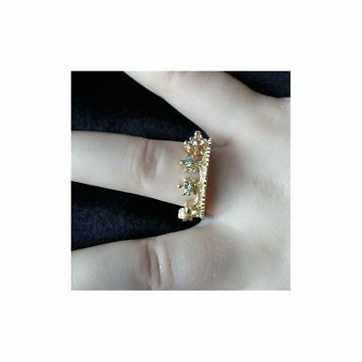 Bague Couronne Avec Strass Taille 6