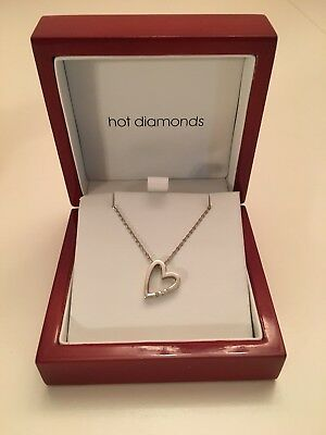 Hot Diamonds Sterling Silver  Heart ❤️ Pendant Necklace 18""