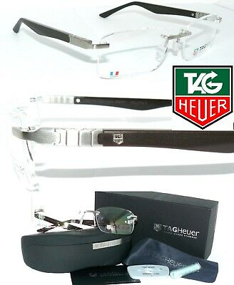 Tag Heuer BRILLE TH 9341 RANDLOS TITAN MARRON LEGEND REFLEX RIMLESS 9342 L-TYPE