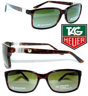 Tag Heuer SONNENBRILLE TH 9381 POLARIZED BRAUN LEGEND MONACO 9384 BRILLE + ETUI