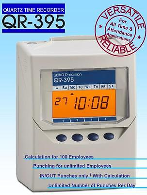 Seiko QR395 Calculating Clock Card Time Recorder Clocking in Machine(with Cards)