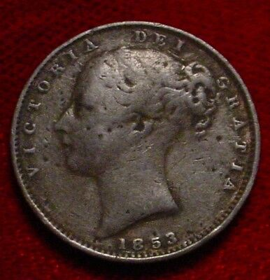 **scarce**1853 Old British Victorian Copper Farthing Gr.britain****