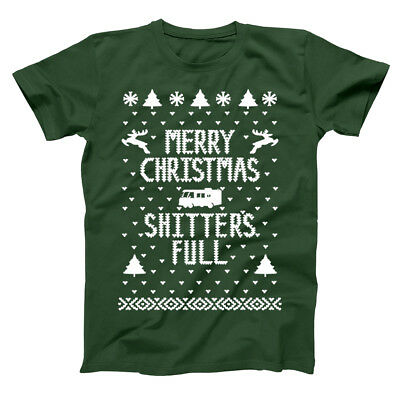 Merry Christmas Shitters Full Griswold  Vacation Forest Green Men's T-Shirt