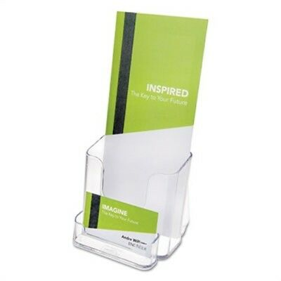 DocuHolder for Countertop or Wall Mount Use, 4 3/8w x 4 1/4d x 7 3/4h, Clear