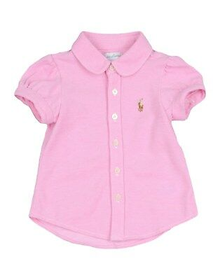 RALPH LAUREN baby girl ss Pink BLOUSE 100% cotton BNWT
