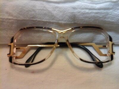 Vintage Cazal 318 Sunglasss Frame  Purple And Gold Front Black Sides
