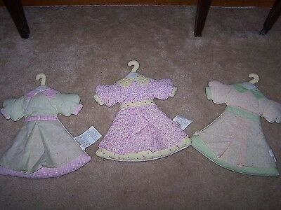 Rare Baby OSHKOSH Dresses Wall Hangings  Lot of 3 Dresses Baby's Room Decor