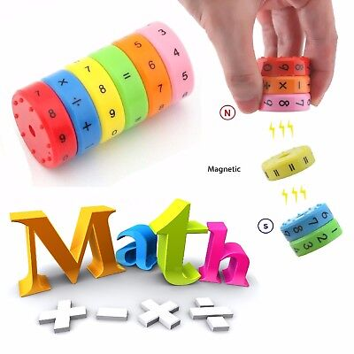 MAGNETIC Arithmetic Blocks Maths Learning Toy Educational Calculator Kids Sums🔥