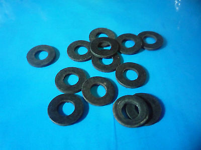 Pack of 30 Assorted (Mixed)  M3  M4  M5  BLACK RUBBER WASHERS (Neoprene)