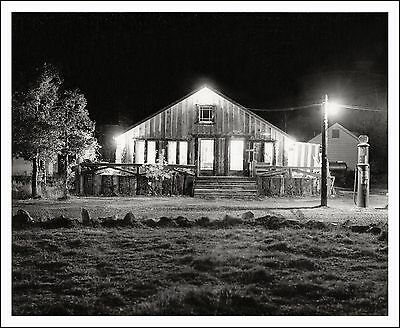 1934 Vintage 8 x 10 Photo of RAYMER'S CAMP/RESORT at NIGHT, at CONVICT LAKE #6,