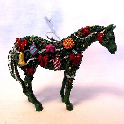 """MIB Retired Trail Of Painted Ponies """"Deck The Halls"""" Christmas Ornament 2005 EUC"""