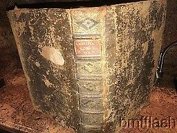 Lighthouse/works/1684/leather/rare Map Of Jerusalem/huge Folio/1400 Pages