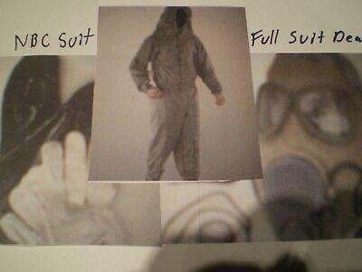 NBC Radiation suit fits L to XL Nuclear Biological Chemical Full fallout  CBRN