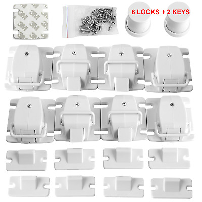 8 Pack Baby Safety lock Drawer Magnetic Child Safety Cabinet Locks 8 Lock 2 Key
