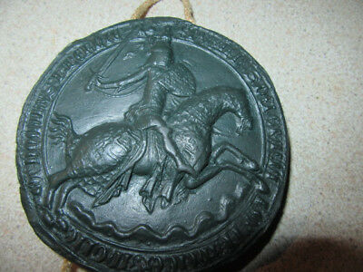 Edward The Third Medieval Knight Large Wax Seal Wall Mounted