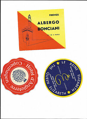 3 Luggage Labels - Copenhagen/Florence and Montreal