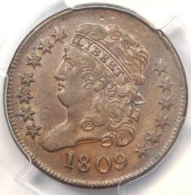 1809 Classic Head Half Cent 1/2C - PCGS Uncirculated Detail (UNC MS) - Rare Coin